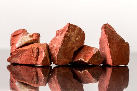 crystal healing: Red Jasper, uncut, crystal Healing, gemstones Stock Photo