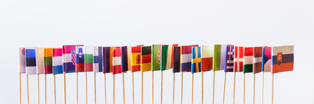 holand: flags of the european union members, without great britain