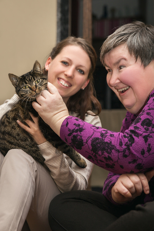 Animal assisted therapeutic for a disability develop woman, alternative therapy