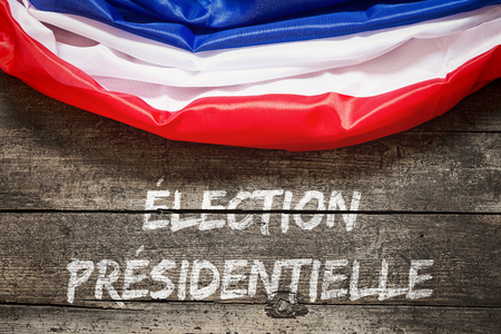 french flag with french text which means election of president