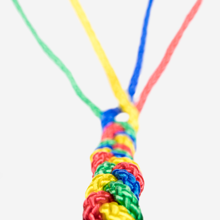 concept connection, Teamwork and collaboration, colorful ropes are connected