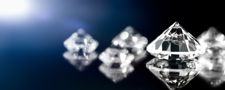 Banner, brilliant cut diamonds, flawless and perfect jewelry, closeup
