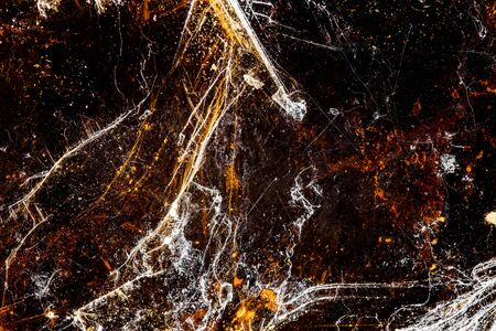 Closeup of muscovite or muscovy glass mineral stone, pattern background with details of mineralogy Banco de Imagens