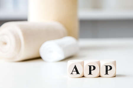Concept medical app in a medical practice or hospital