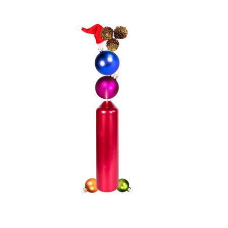 The letter I, christmas or xmas decoration alphabet, isolated on white background
