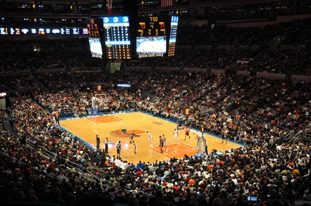 madison: Game between the New-yYork Knicks and the Antonio Spurs at Madison Square Garden