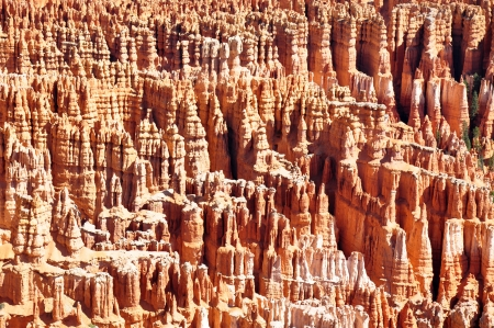 stratification: Fantastic view of multiple columns that are making the Bryce Canyon, Bryce Canyon NP, Utah Stock Photo