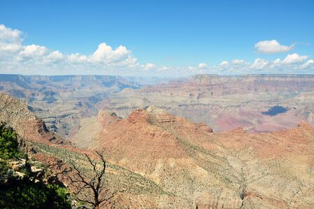 the height of a rim: Spectacular view of the Grand Canyon National Park, from the southern rim in Arizona,