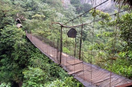 Flimsy bridge near Las Cascadas, Banos, Equator photo