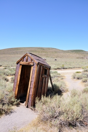water closet: Old water closet in Bodie Ghost Town are not so privat