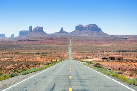 Monument Valley represents one of the most fablous view of the USA, Arizona  Colors are beautiful indeed Standard-Bild