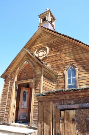 bodie: Church in the ghost town of Bodie, California, USA
