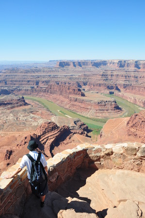 canyonland: Looking at the Colorado from Dead Horse Point, Canyonland, Utah