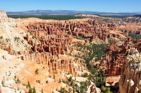 the height of a rim: Magnificient view of Bryce Canyon National Park, Utah Stock Photo