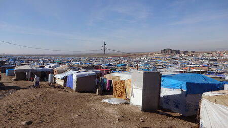 refugees: Tents in Domeez camp, near Dohuk   Duhok, Kurdistan, Iraq Editorial
