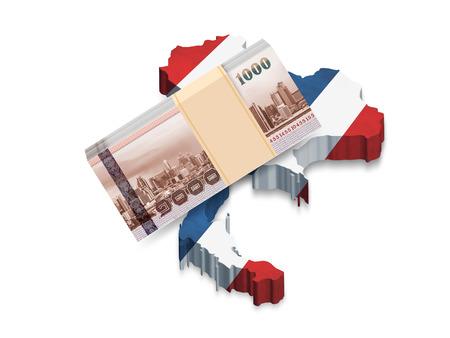 タイの国旗のお金バンコク マップ グラフィック 3 D 写真素材 - 38383926
