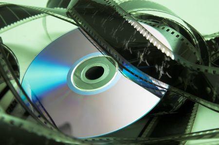 filmmaker: DVD and cinema in green Stock Photo