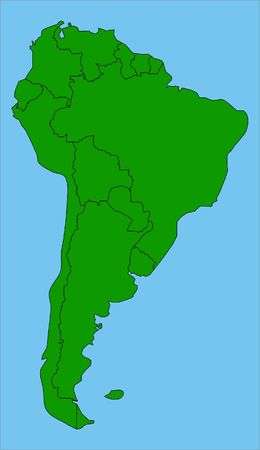 pixelate: South America Stock Photo