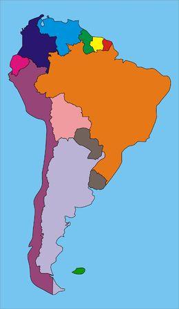 Südamerika Standard-Bild - 5630795