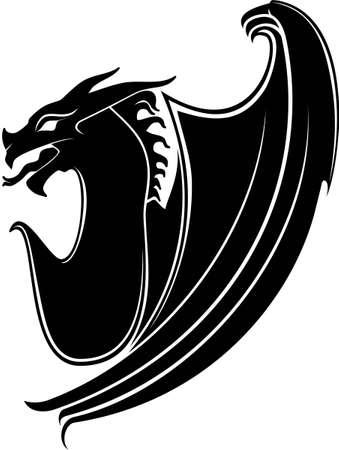 Dragon Tribal wie Standard-Bild - 12802717
