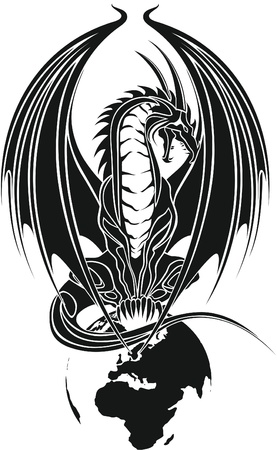 dragon tribal like Vector