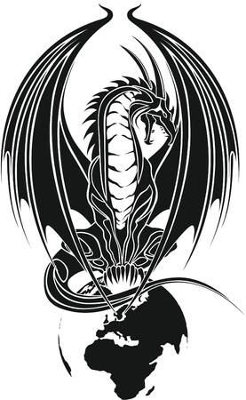 dragon tribal like Stock Vector - 12933000