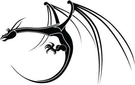 Tribal Drachen-Symbol Standard-Bild - 12802750