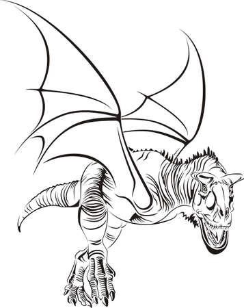 Winged Tribal Raptor