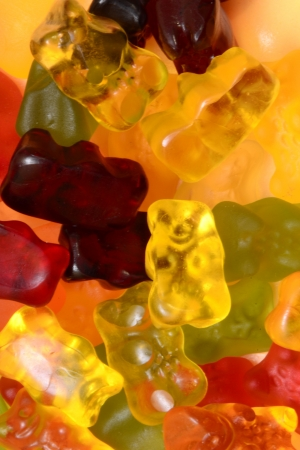 Lots of colorful gummy bears
