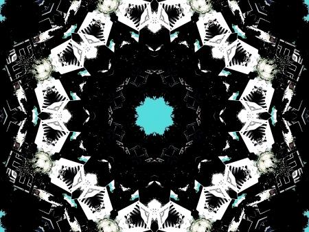 Kaleidoskop Gothic Standard-Bild