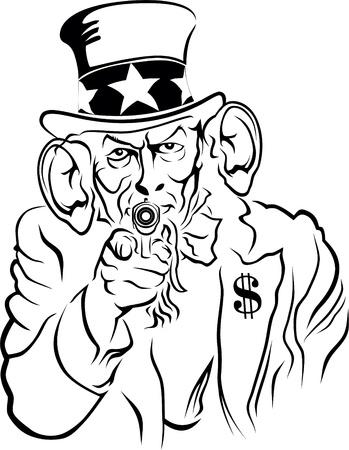 Uncle Sam Standard-Bild - 21585939