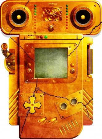 GB - Steampunk Grunged Lizenzfreie Bilder