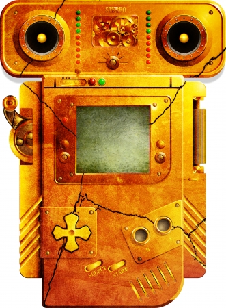 GB - Steampunk Grunged Standard-Bild