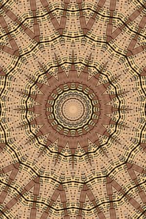 Kaleidoskop Mittelbraun Stern