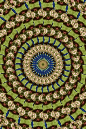 Kaleidoscope Darkbrown green Rings