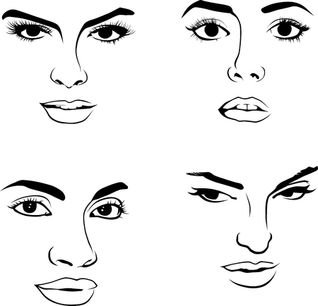 Face of Woman Illustration