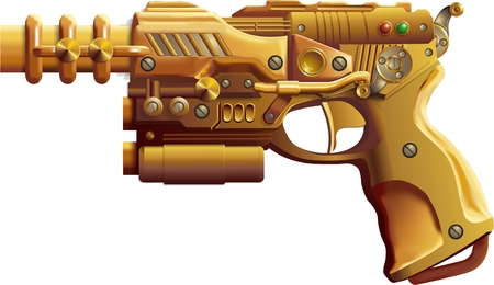 Steampunk Gun Illustration