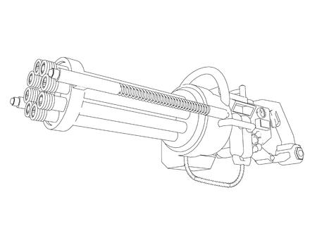 Steampunk Gun Dreh Standard-Bild - 24734212