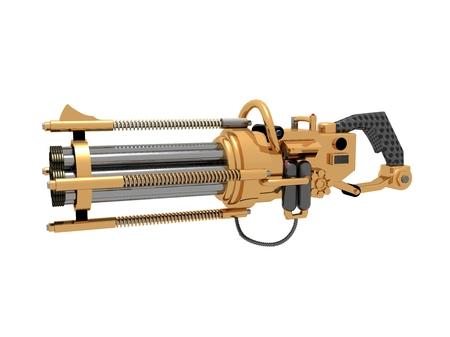 Steampunk Gun Dreh Lizenzfreie Bilder