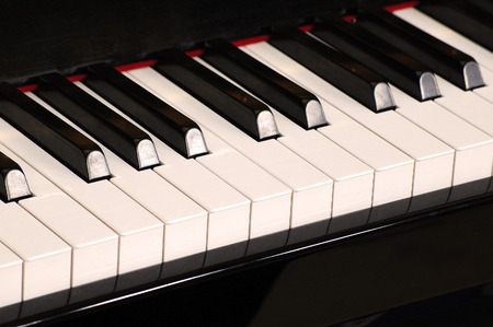 Piano keyboard Standard-Bild