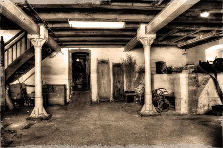 Old Senfmhle interior Standard-Bild