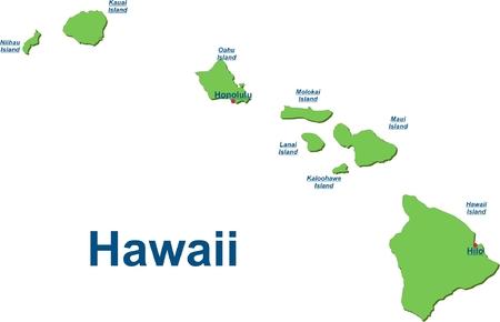 Karte der Hawaii-Inseln
