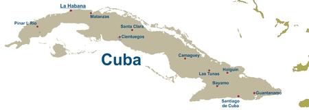 havana cuba: Map of Cuba