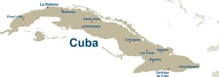 Karte von Kuba  Standard-Bild - 57943607
