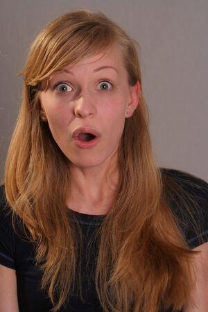 facial expression: woman making facial expression