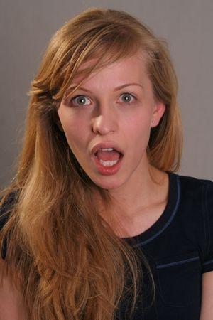 girl shocked