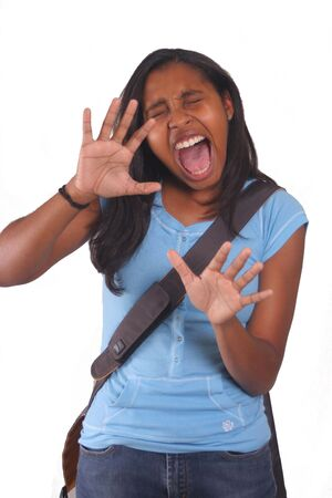 School Girl Screaming