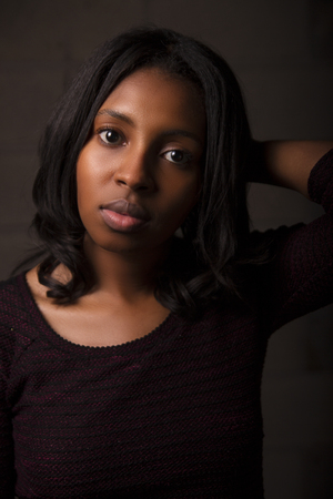 serious young woman