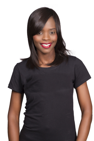 Ethnic woman smiling