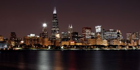sears: Chicago Cityscape Sears Tower Landscape Stock Photo